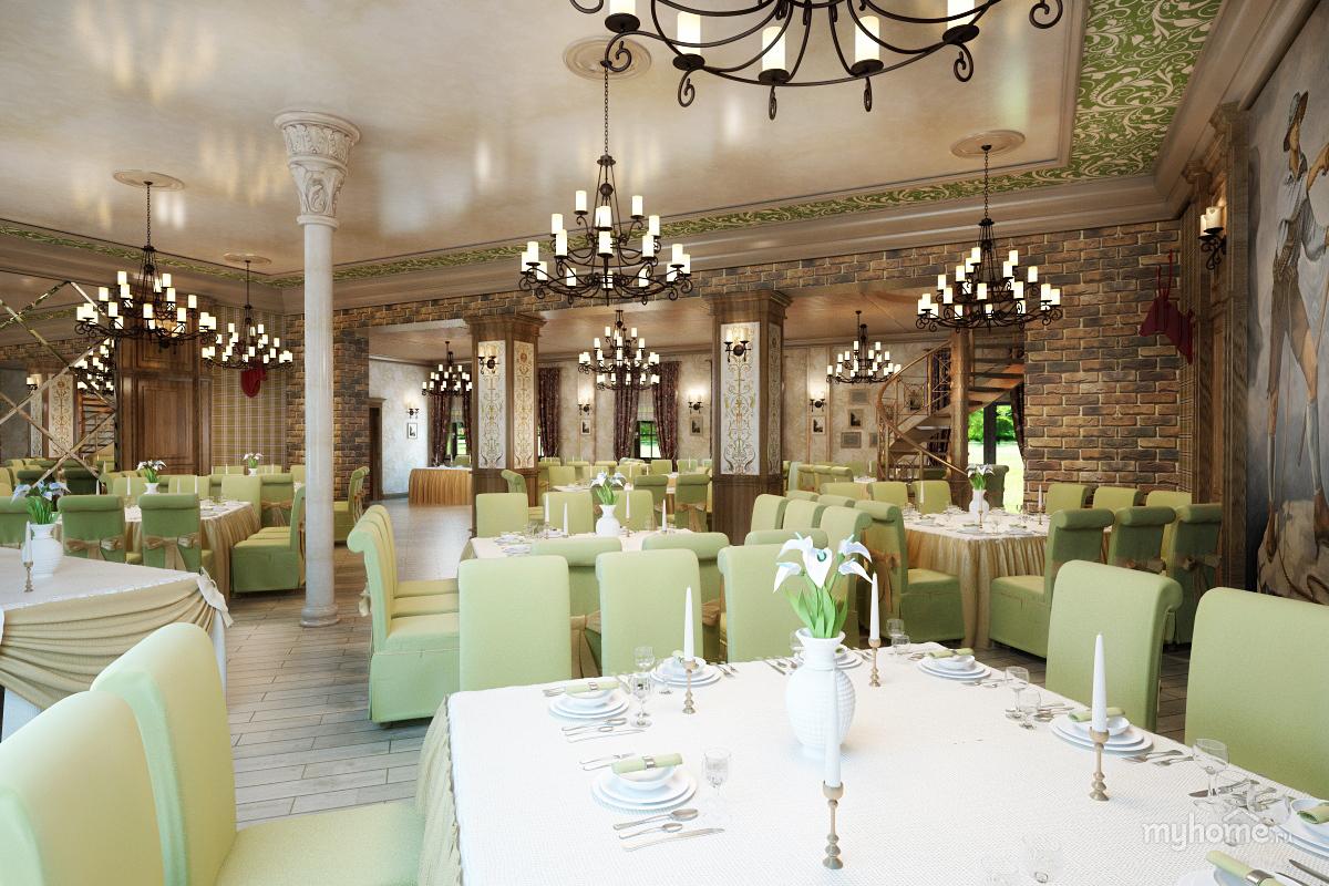 дизайн банкетного зала в кафе фото пару