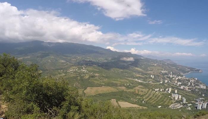 Фото Партенит с высоты Медведь горы