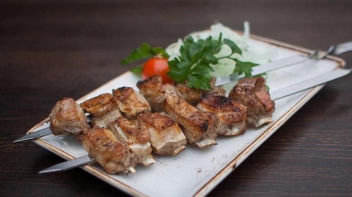 Фото Шашлык в ресторане Лесной Алушта