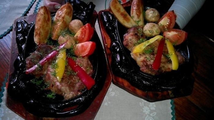 Фото Блюдо сковорода Атамана в ресторане Подсолнухи