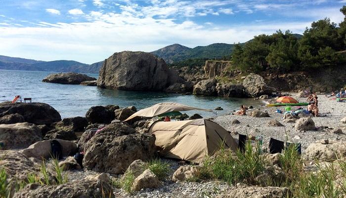 Отдых в палатке урочище Аязьма