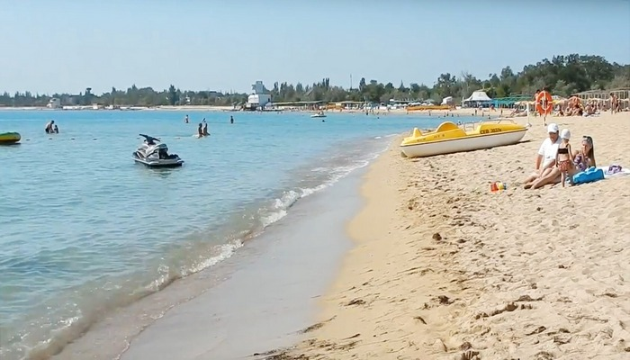 Фото Центральный пляж Заозерное