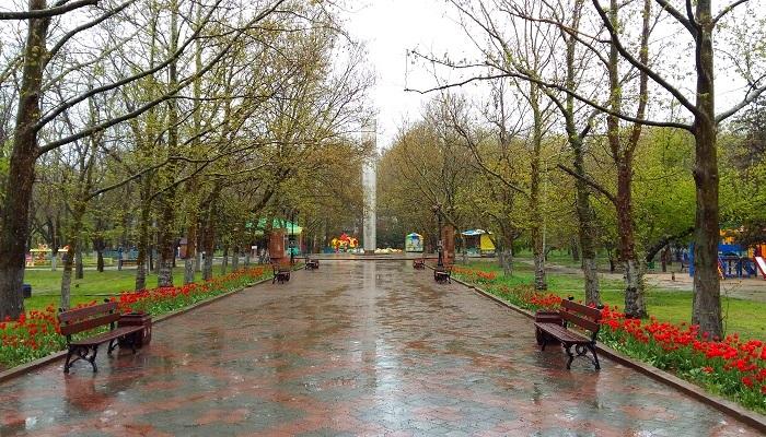 Фото Комсомольский парк в Феодосии