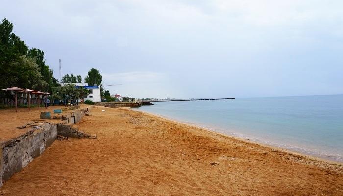 Фото Пляж Лазурной берег в городе Феодосия