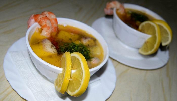 Суп из морепродуктов таверна Ладья Феодосия