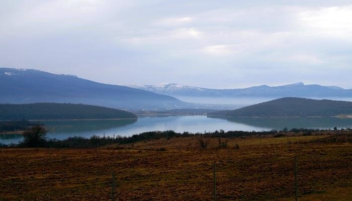 Чернореченское водохранилище в Крыму