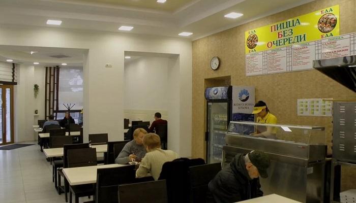 Интерьер столовой Еда Севастополь