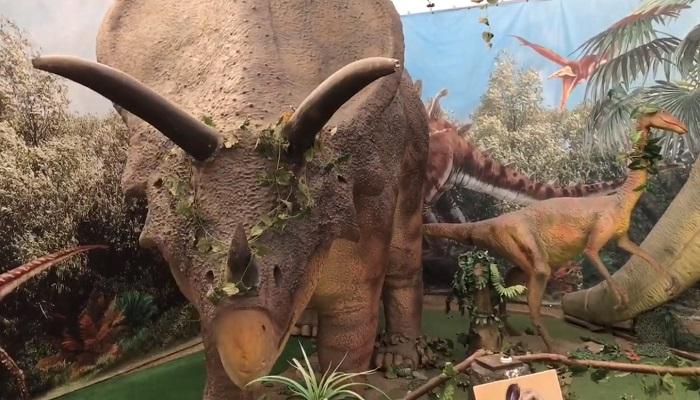 Музей динозавров в детском парке Севастополя
