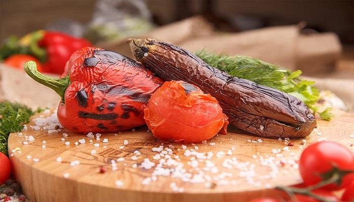 Фото Овощи гриль в баре На углях Севастополь