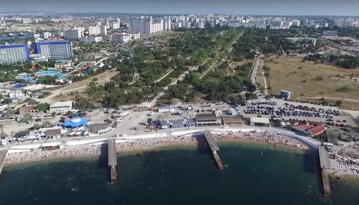Парк Победы и пляж Омега