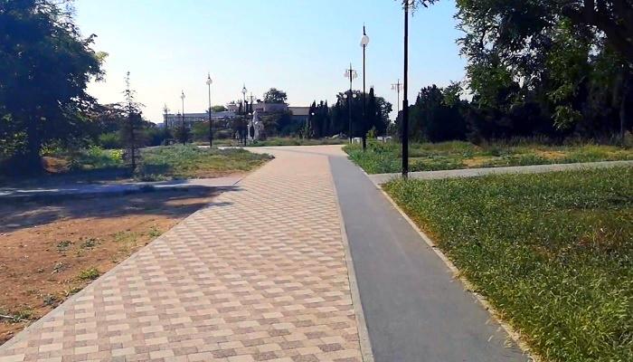 Велодорожки парка Победы в Севастополе
