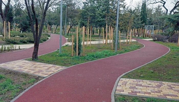 Велосипедные дорожки сквер 60-летия СССР Севастополь