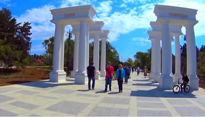 Выход к пляжу парка Победы в Севастополе