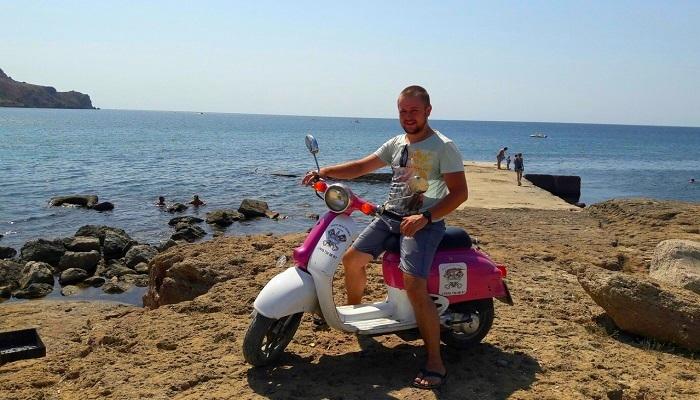 На скутере к мысу Меганом Крым