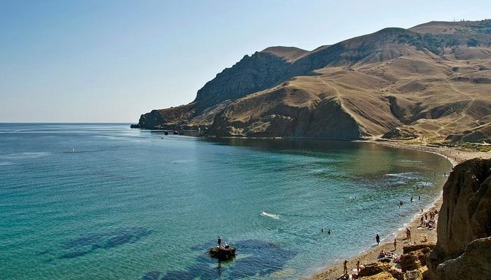 Фото Пляж Меганом в Судаке