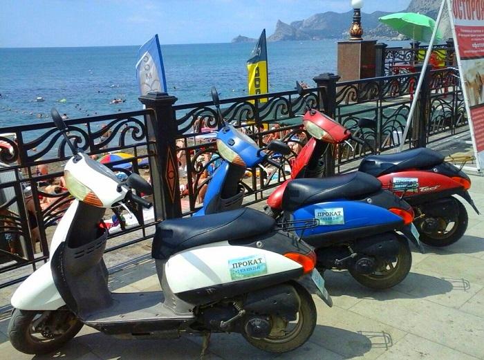 Прокат скутера в городе Судак