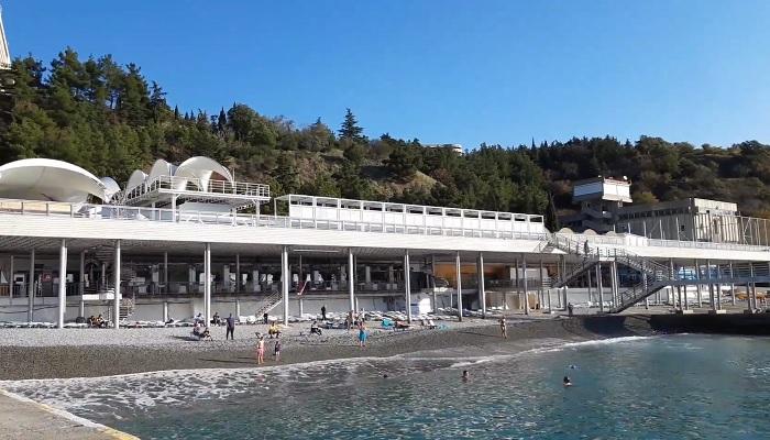 Пляж отеля Ялта Интурист Крым
