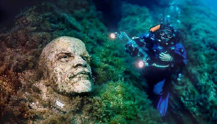 Подводная Аллея вождей на Тарханкуте