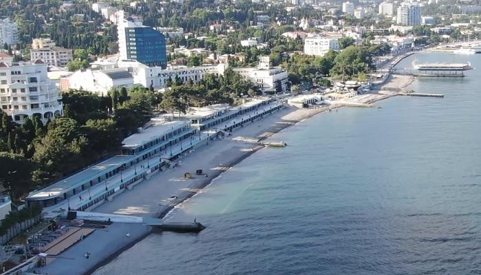 Приморский пляж Ялты Крым