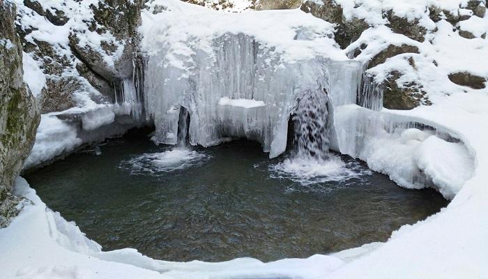 Фото Черемисовские водопады зимой