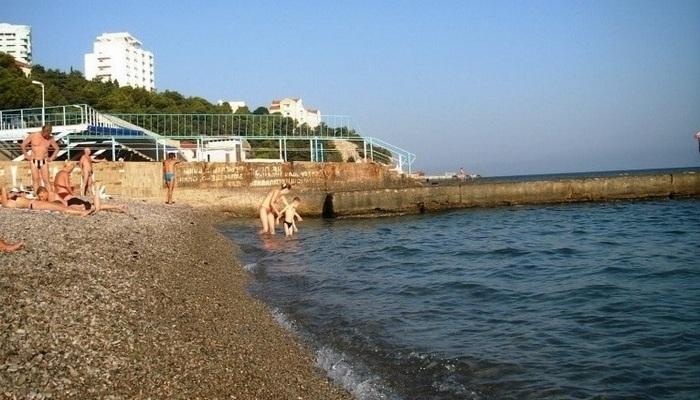 Центральный пляж Гаспры