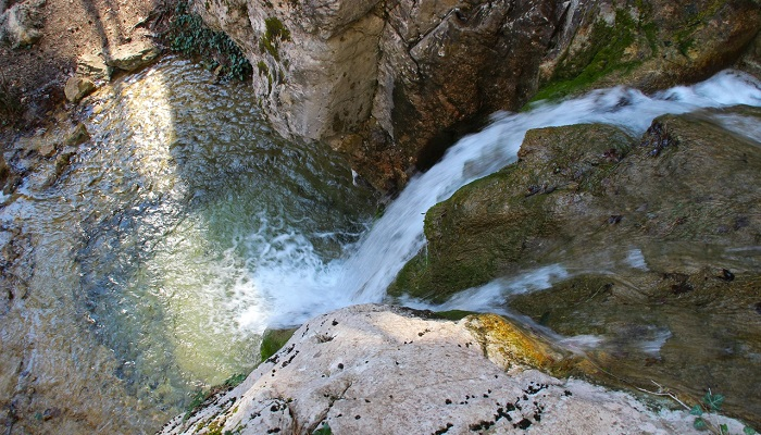 Чаша водопада Купель Дианы