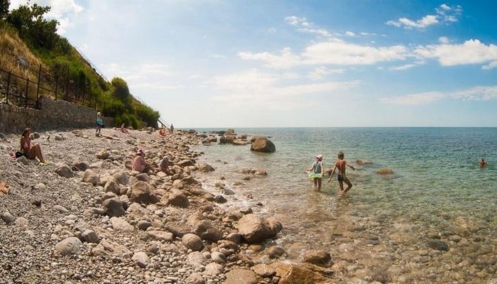 Дикий Кучмовский пляж в Алупке