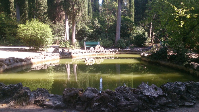фото пруд в парке Массандры