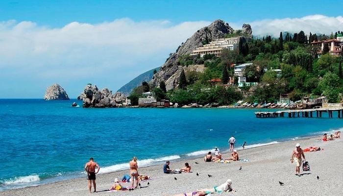 Центральный пляж Гурзуфа