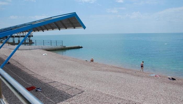 Пляж Коровинский в Гурзуфе
