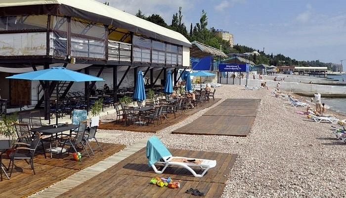 Пляж Прибой в Гурзуфе