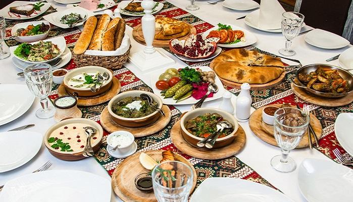Фото Блюда кавказской кухни ресторан царские конюшни