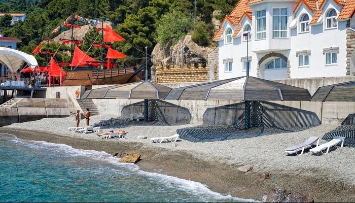 Санаторские пляжи Гаспры