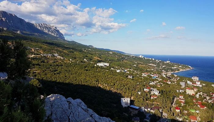 Вид на Симеиз с горы Кошка Крым