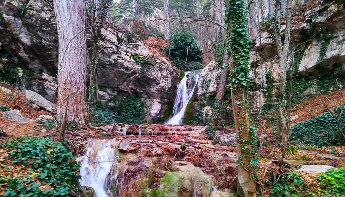 Водопад Купель Дианы близ Ялты
