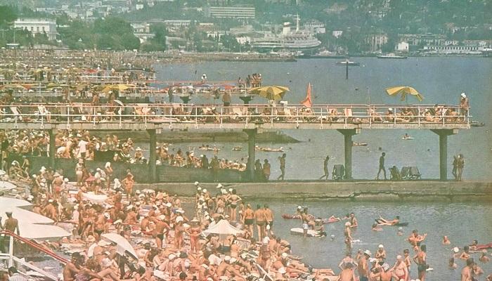 Времена СССР пляжи Ялты