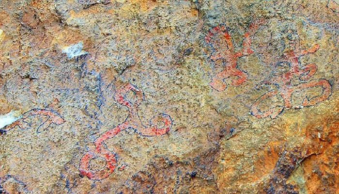 Наскальные рисунки Качи каньон