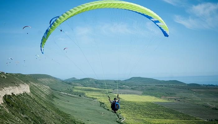 Полеты на параплане гора Климентьева