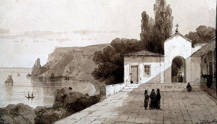 Картина Айвазовского Георгиевский монастырь