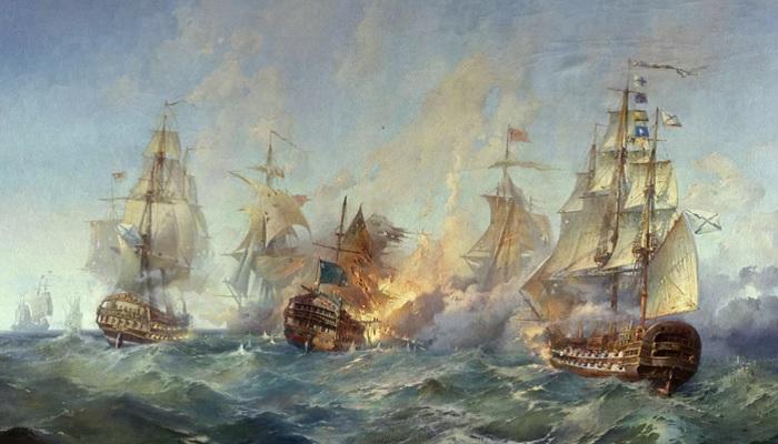 Бой Российского флота с турками в Керченском проливе