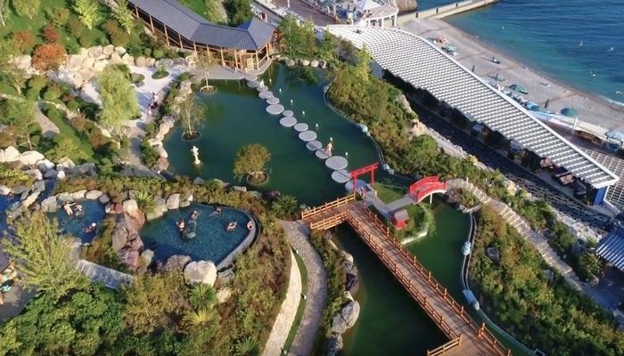 Японский сад отеля Мрия